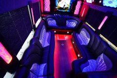 Interior of 42 passenger Party Bus - Rental in NJ - NY