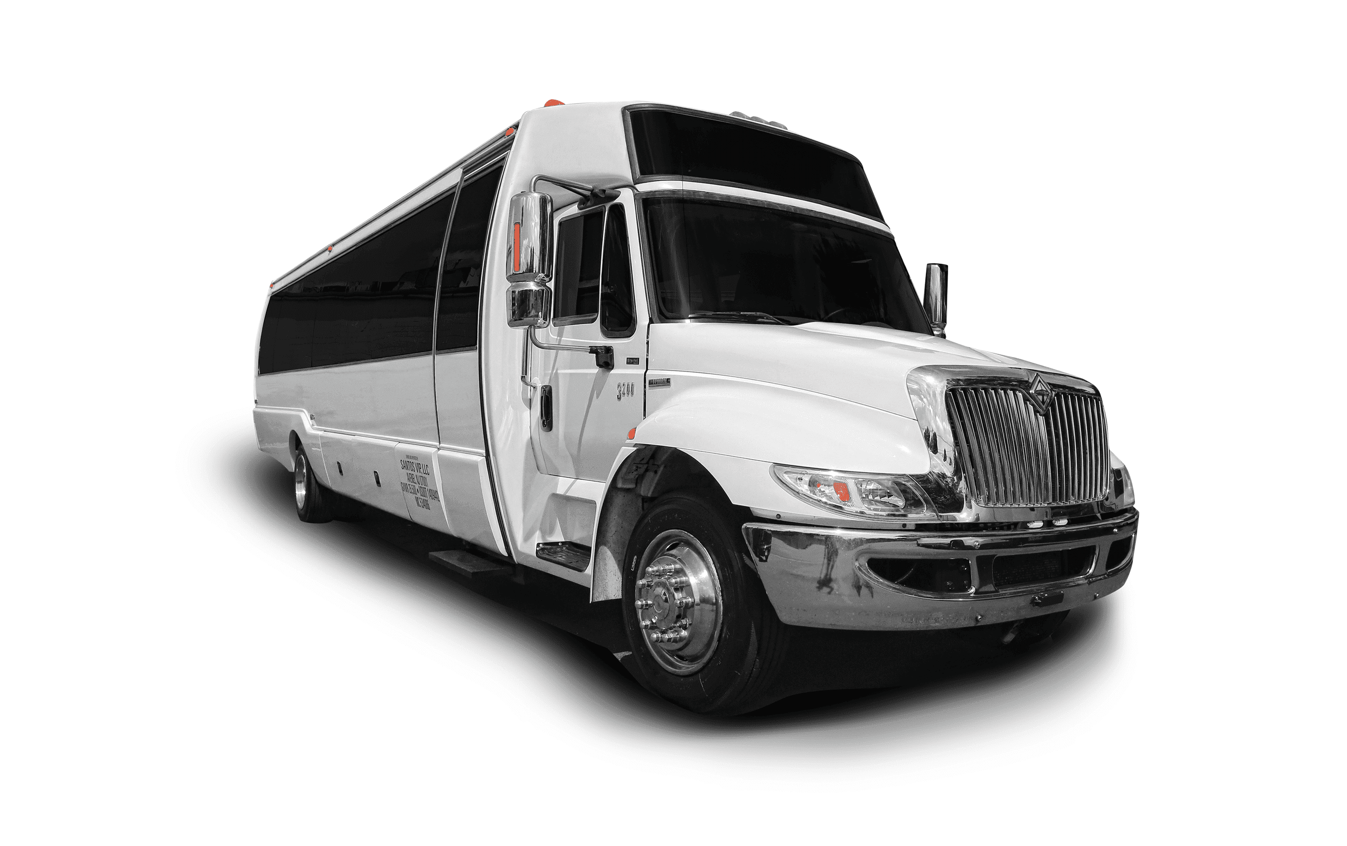 28 passenger VIP Limo Coach Party Bus rental for tours to Halloween / haunted house attractions in NJ, NY & PA.