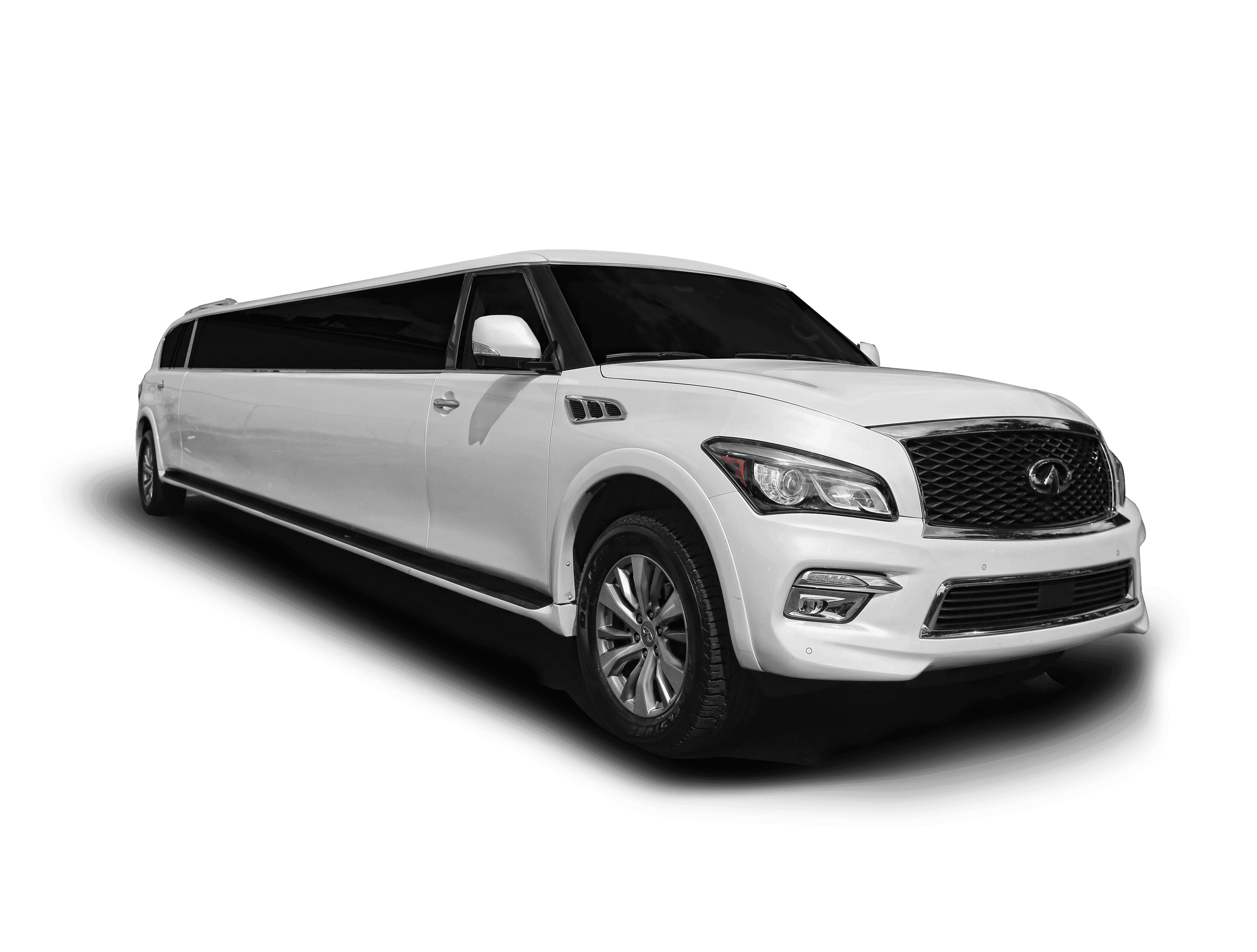 Infiniti QX 80 limousine for halloween & Haunted House limo tour in NJ, NY and PA.