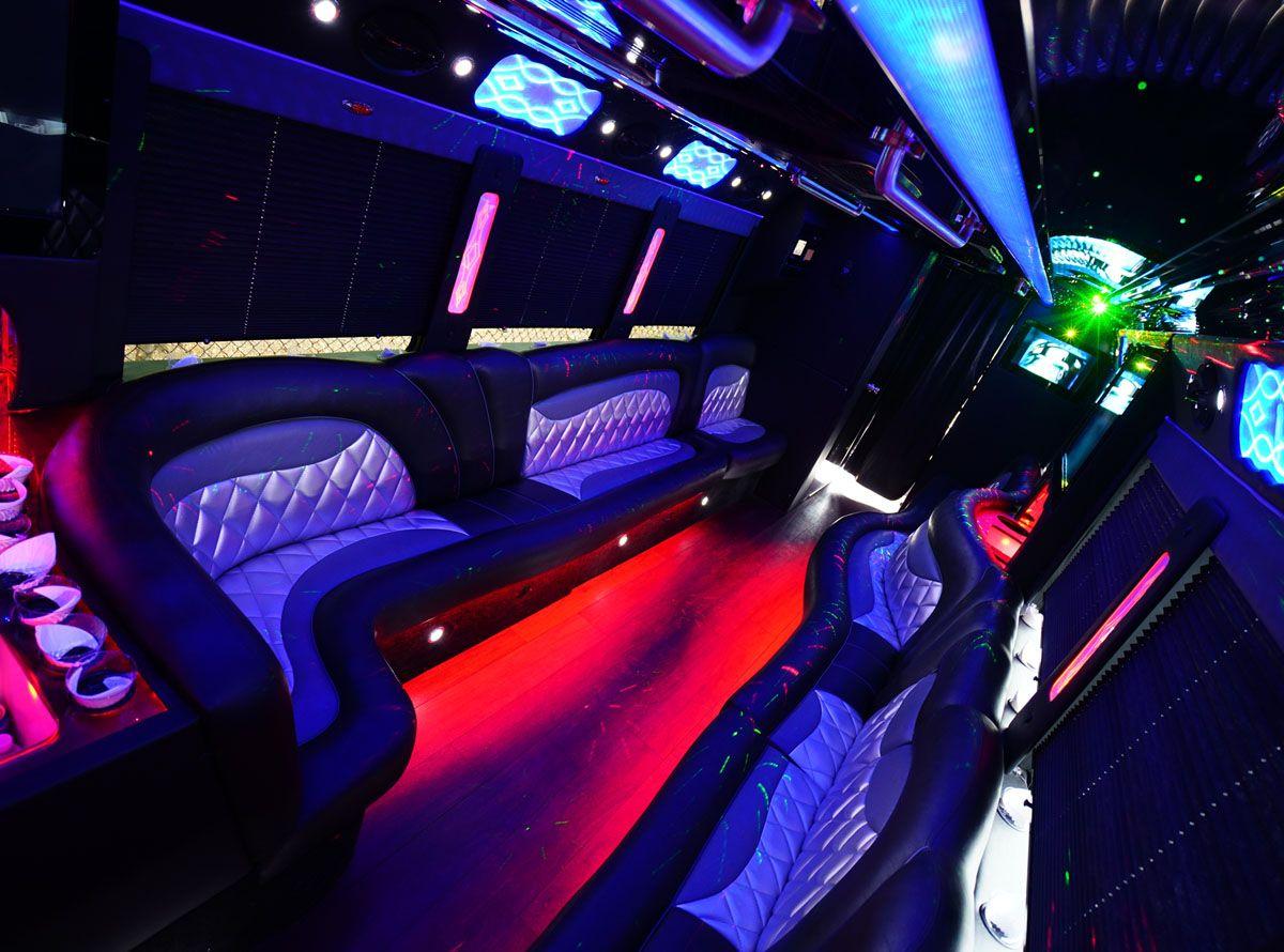 42 Passenger Limo Coach Party Bus