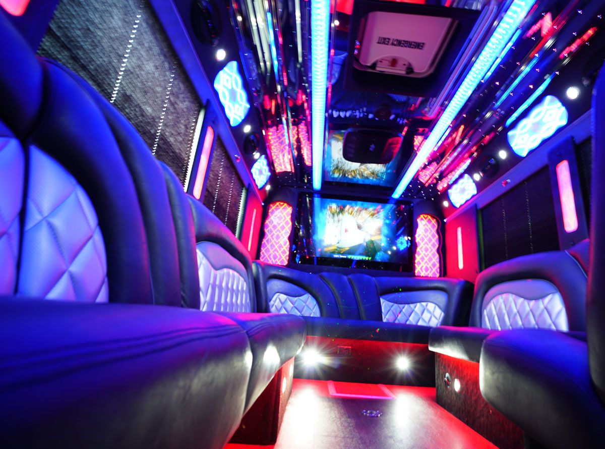 42 Passenger Limo Coach Party Bus