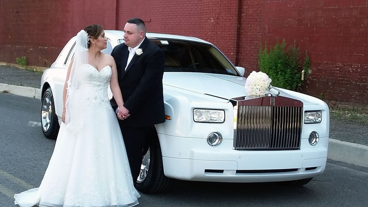 New Jersey Wedding Bride Groom Limo
