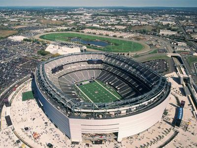 The Meadowlands Racetrack and MetLife Stadium