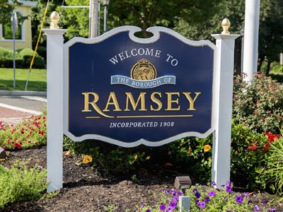 Welcome to Ramsey NJ sign
