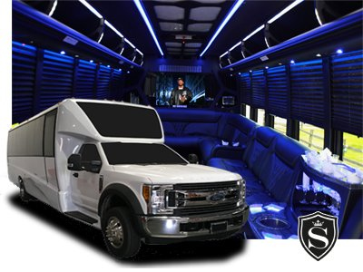 Limo Coach Party Bus Rental for Prom