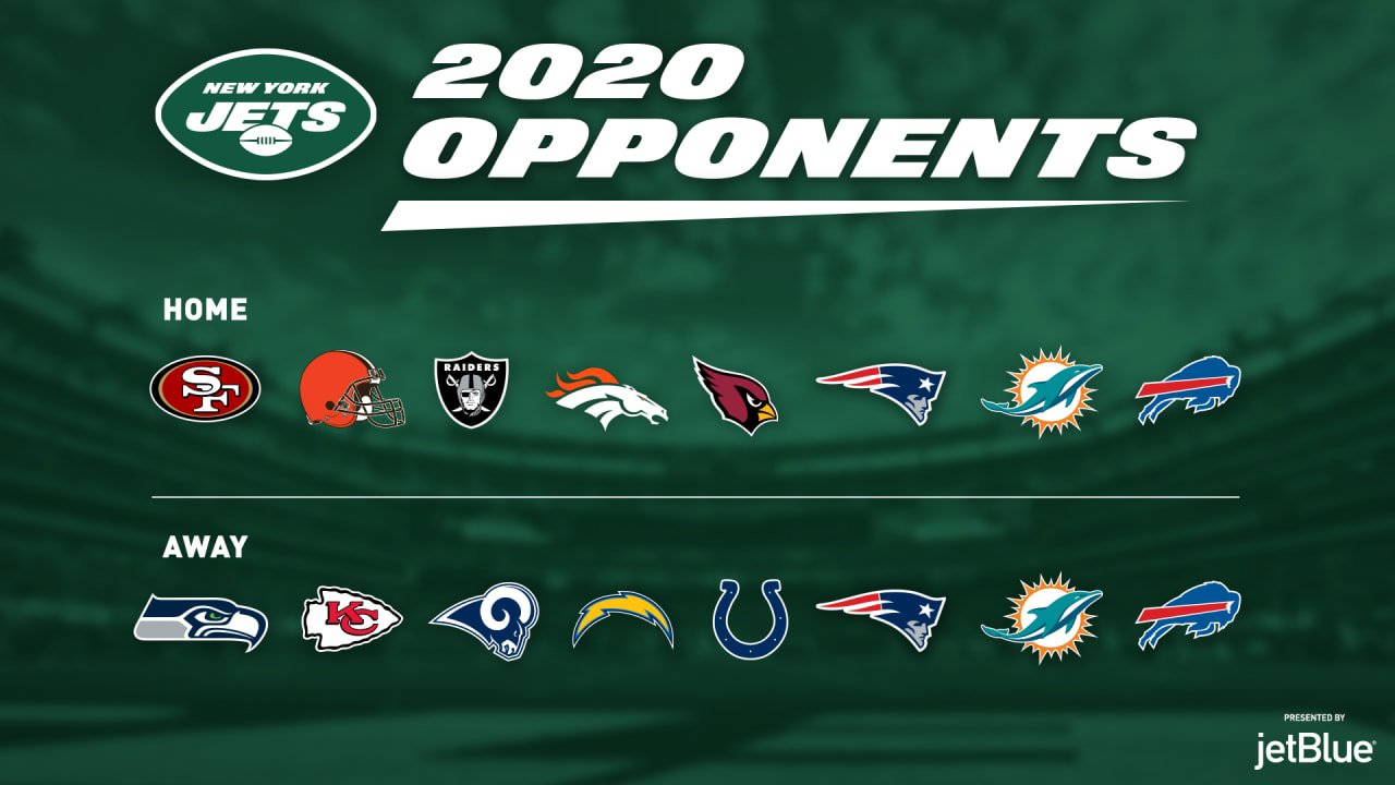 2020 NFL Game Schedule for NY Jets games - MetLife Limo and Party Bus Transportation