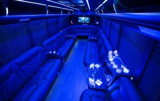 22 passenger Party Bus Interior