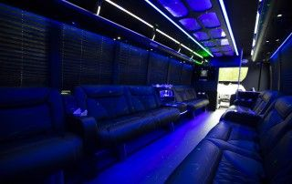 22 passenger Party Bus - Interior