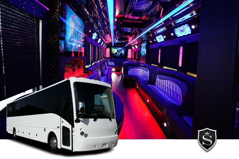 42 passenger Party Bus - Prom Party Bus Rental